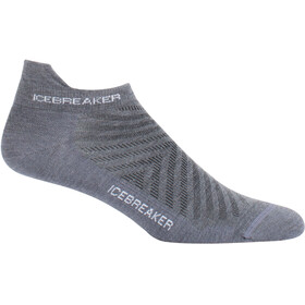 Icebreaker Run+ Ultra Light Micro Socks Men grey